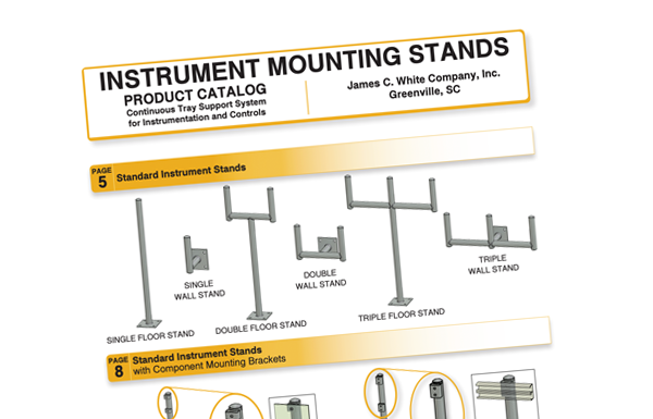 Instrument Mounting Stands - James C  White Company, Inc